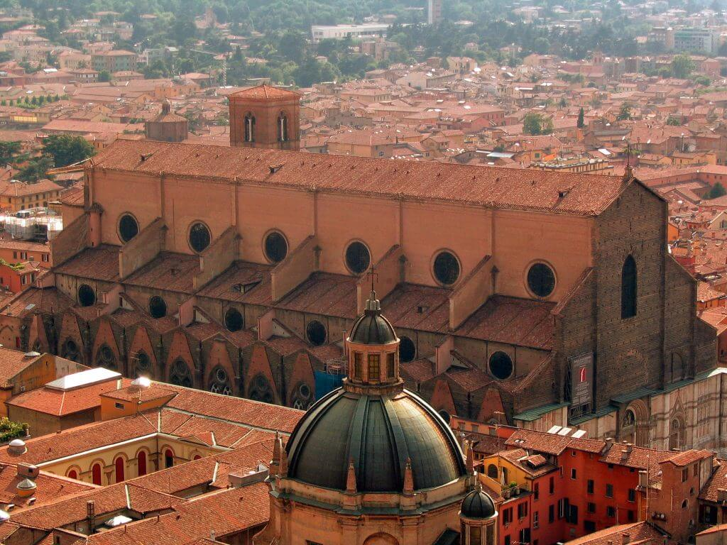 Bologna, a view of the city