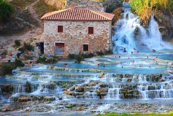 Saturnia hot spring in Italy